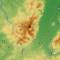 Nearby Forecast Locations - Wogezy - mapa