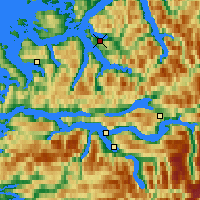 Nearby Forecast Locations - Volda - mapa