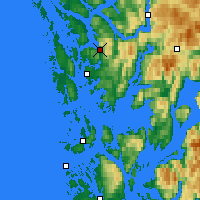 Nearby Forecast Locations - Bergen - mapa