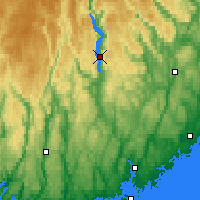 Nearby Forecast Locations - Byglandsfjord - mapa