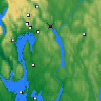 Nearby Forecast Locations - Lillestrøm - mapa