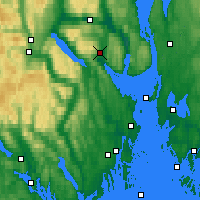 Nearby Forecast Locations - Sande-galleberg - mapa