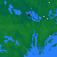 Nearby Forecast Locations - Adelsö - mapa