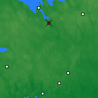 Nearby Forecast Locations - Hämeenlinna - mapa