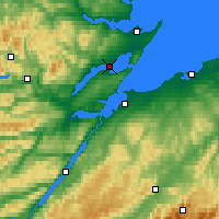 Nearby Forecast Locations - Cromarty - mapa