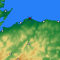 Nearby Forecast Locations - Lossiemouth - mapa