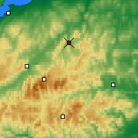 Nearby Forecast Locations - Glenlivet - mapa