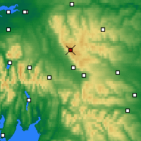 Nearby Forecast Locations - Góry Pennińskie - mapa
