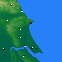 Nearby Forecast Locations - Bridlington - mapa