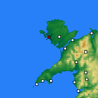 Nearby Forecast Locations - Holyhead - mapa