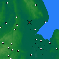 Nearby Forecast Locations - Lincolnshire - mapa