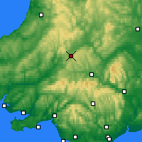 Nearby Forecast Locations - Góry Kambryjskie - mapa