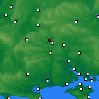 Nearby Forecast Locations - Stonehenge - mapa