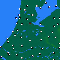 Nearby Forecast Locations - Amsterdam - mapa