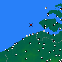 Nearby Forecast Locations - Vlakte van de Raan - mapa