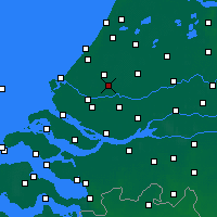 Nearby Forecast Locations - Rotterdam - mapa