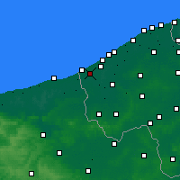 Nearby Forecast Locations - Koksijde - mapa