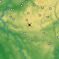 Nearby Forecast Locations - Neufchâteau - mapa