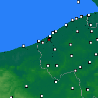 Nearby Forecast Locations - Nieuwpoort - mapa