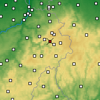 Nearby Forecast Locations - Malmedy - mapa