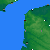 Nearby Forecast Locations - Boulogne-sur-Mer - mapa
