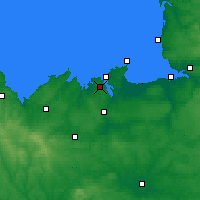 Nearby Forecast Locations - Dinard - mapa