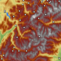 Nearby Forecast Locations - Bourg-Saint-Maurice - mapa