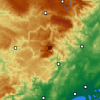 Nearby Forecast Locations - Mont Aigoual - mapa