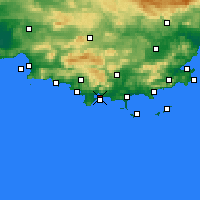 Nearby Forecast Locations - Tulon - mapa