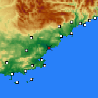 Nearby Forecast Locations - Fréjus - mapa