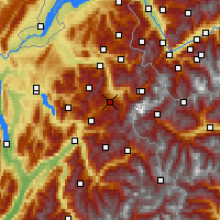 Nearby Forecast Locations - Megève - mapa