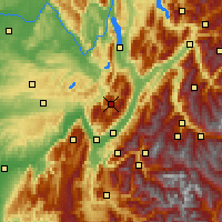 Nearby Forecast Locations - Masyw Chartreuse - mapa
