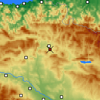 Nearby Forecast Locations - Pampeluna - mapa