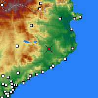 Nearby Forecast Locations - Girona - mapa