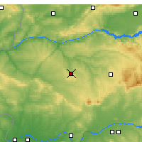 Nearby Forecast Locations - Cáceres - mapa