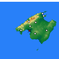 Nearby Forecast Locations - Majorka - mapa