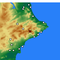 Nearby Forecast Locations - Aitana - mapa