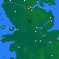 Nearby Forecast Locations - Eggebek - mapa