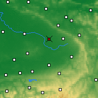 Nearby Forecast Locations - Gütersloh - mapa