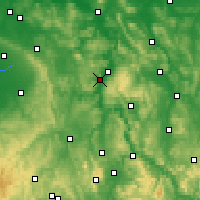 Nearby Forecast Locations - Höxter - mapa