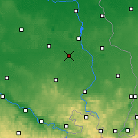 Nearby Forecast Locations - Hoyerswerda - mapa