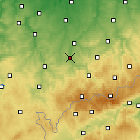 Nearby Forecast Locations - Zwickau - mapa