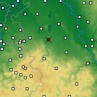Nearby Forecast Locations - Düren - mapa