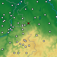 Nearby Forecast Locations - Würselen - mapa
