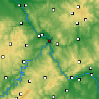 Nearby Forecast Locations - Koblencja - mapa