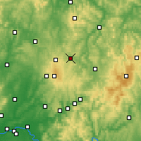 Nearby Forecast Locations - Lauterbach - mapa