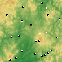Nearby Forecast Locations - Homberg (Ohm) - mapa