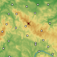 Nearby Forecast Locations - Rennsteig - mapa