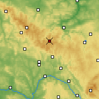 Nearby Forecast Locations - Las Turyński - mapa