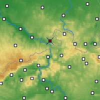 Nearby Forecast Locations - Kirnitzschtal - mapa